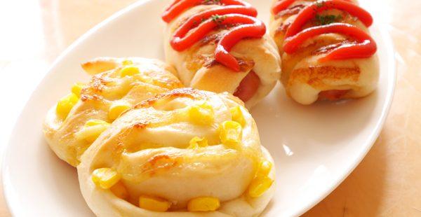 コーンマヨパン&ミニウインナーパン